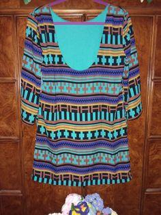 Ark & Co. Aztec Design Print Dress NWT