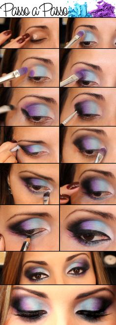 How to smokey eye step by step. I'll use this guide with diff colors though!