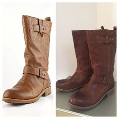 Coach Boots Coach Virginia Boots. Embossed leather with Coach monogram.                                                               No trades.  No PayPal Coach Shoes Combat & Moto Boots