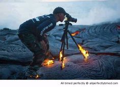 The passion of photography – When getting to close to nature is not a good thing.The passion is just hard to break.