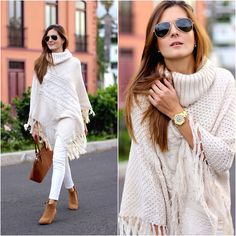 Get this look: http://lb.nu/look/7972894 More looks by Marianela Yanes: http://lb.nu/marilynscloset Items in this look: Chichi London Poncho, Zara Pants #casual #chic #street