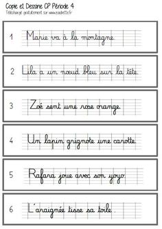 Montessori, French Language Learning, Learn French, Grade 1, Comprehension, Handwriting, Sheet Music, Grande Section, Phrases