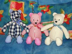 Teddy Pattern pieces and tutorial for teddy bear