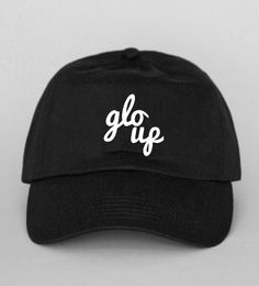 51f3cf48bfd Shop new 2017 glo up Dad Hat Back Dad Hat 100% cotton twill Extra low