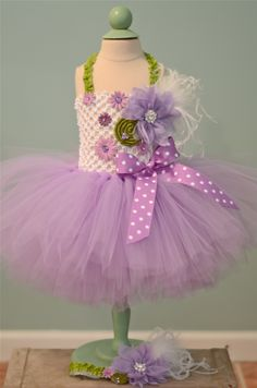 Purple and green tutu dress. Other colors available.  Message us on etsy. Etsy.com/shop/MyLittleStinky