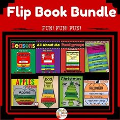 Flip Book Bundle: This HUGE resource contains 8 flip books that are perfect for different occasions: