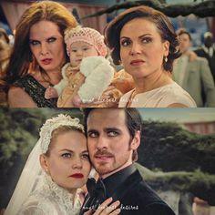 Ragina and Zelena both protecting Robin and then Killian protecting Emma.