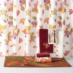 Celebrate Together Printed Leaves Shower Curtain Collection