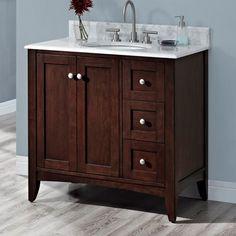 fairmont designs f1513v36r shaker americana vanity base bathroom vanity habana cherry at