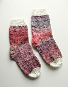 Ambient Rose Hand Knit Socks