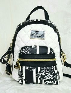 Betsey Johnson Mini Convertible Crossbody Backpack - FLORAL #BetseyJohnson #BackpackStyle