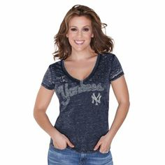 Touch by Alyssa Milano New York Yankees Ladies Addison T-Shirt - Navy Blue