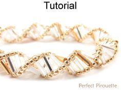 Perfect Pirouette Tubular Dutch Spiral Stitch Bugle Bracelet Necklace Beading Pattern Tutorial   Simple Bead Patterns