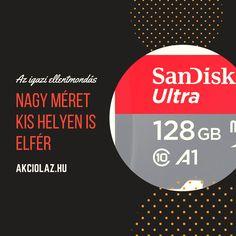 SANDISK ULTRA 128GB MICROSDXC 100MB/S ÚJ ÁR: 12619 FT  AKCIÓ: 24.5%