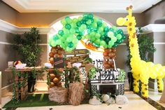 Safari birthday theme ideas full size of party jungle themed zoo decor with animal stickers decoration . Safari Party, Festa Safari Baby, Safari Theme Birthday, Zoo Birthday, Animal Birthday, 3rd Birthday Parties, Jungle Safari, Jungle Party Decorations, Jungle Theme Parties