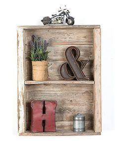 White Vintage Mounted Shelf #zulily #zulilyfinds