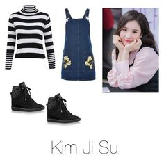 """""""Jisun's casual wear"""" by pantsulord on Polyvore featuring Topshop and Louis Vuitton"""