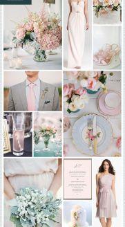 REVEL: Blush   Dusty Blue Wedding Inspiration