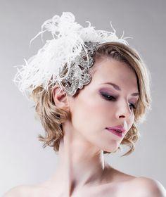 Bridal Headpiece  Swarovski Crystals  by EllaGajewskaBRIDAL