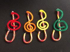 Treble Clef Candy Canes