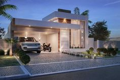 Top 33 modern house designs ever built you must see 22 House Front Design, Tiny House Design, Modern House Design, Modern Tiny House, Modern House Plans, Bungalow Haus Design, Facade House, House Goals, Residential Architecture