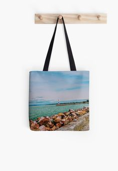 'By the lake' Tote Bag by godolilla Framed Prints, Canvas Prints, Relaxing Day, Poplin Fabric, Iphone Wallet, Sell Your Art, Cotton Tote Bags, Shopping Bag, My Design