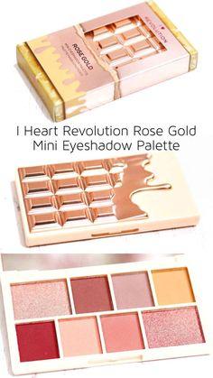 Make-up und Hautpflege I Coronary heart Revolution Rose Gold Mini eyeshadow palette Evaluate / swatc I Heart Makeup, Rose Gold Makeup, Rose Gold Eyeshadow, Fancy Makeup, Cute Makeup, Elf Makeup, Mini Makeup, Makeup Geek, Makeup Ideas