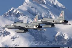 F-5s in action above the Alps.