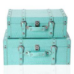 Z Gallerie - Veneto Suitcases - Aquamarine - Set of 2 $79.95