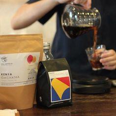 Filter Coffee today - Colombia Pedregoza (Pink Bourbon) - Kenya Gachata - Thailand Doi Thong Pattana.  #filtercoffee #pourover #inkandlion #specialtycoffee #inkandlioncafe #cafehoppingbkk #bangkokcafe http://ift.tt/20b7rle