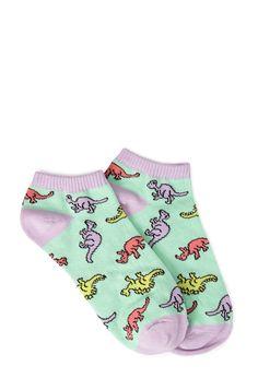 Forever 21 Dino parade ankle socks- 1,60