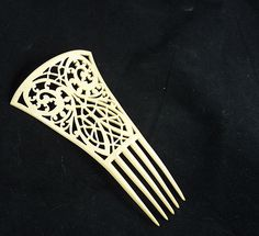 French Ivory Celluloid Hair Comb