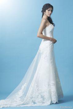 eden bridals 2013 gold label  gl024 strapless wedding dress