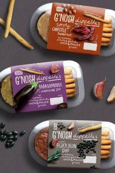 G'nosh Gourmet Dips - Mystery Ltd - Brand Design Agency Food Branding, Food Packaging Design, Logo Food, Brand Packaging, Branding Design, Design Agency, Food Graphic Design, Food Design, Frozen Food Brands