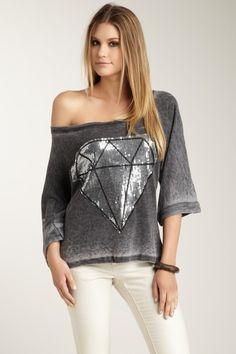 Brokedown Clothing Diamond Sequin Dolman
