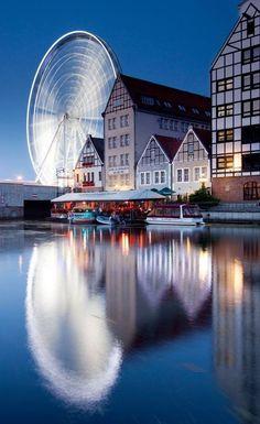 Motława River, Old Gdansk - Northern Poland Danzig, Places Around The World, Around The Worlds, Beautiful World, Beautiful Places, Places To Travel, Places To Visit, Gdansk Poland, Visit Poland