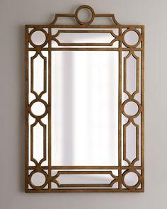 "more bedroom mirror ideas (Golden ""Pagoda"" Mirror - Neiman Marcus)"
