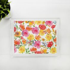 Lucite Tray - Pretty Posies Lucite Tray, Trays, Pretty, Food Trays, Tray