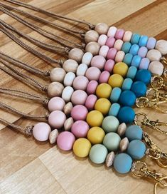 Follow my shop on instagram @modernmadecompany ~ Perfect gift for teachers, student teachers, coworkers, boss, students, or a stocking stuffer. Dress up your outfit or keys with these modern lanyard and keychains! The lanyard in this listing is measured at 18.5 from the tie at the top to the Beaded Lanyards, Id Badge, Tie Knots, Badge Holders, Key Rings, Stocking Stuffers, Teacher Gifts, Custom Design, Beaded Bracelets