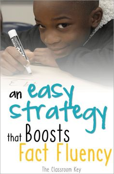 An easy strategy that boosts math fact fluency, try this in your or grade class Math Fact Fluency, Daily Math, Math Strategies, Math Tips, Math Addition, First Grade Math, Second Grade, Guided Math, Math 2