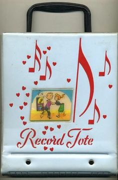 Vintage 1960's Vinyl Record Tote