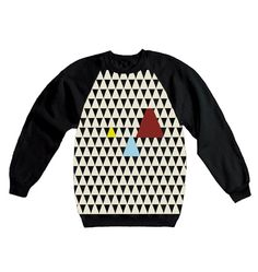 Sweater almost tangram black NEW*