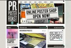 Vintage newspaper web site design: posterroast.com/site