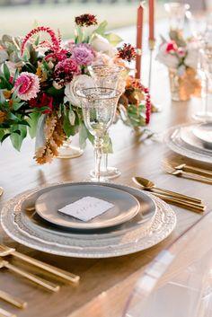 Elegant Al Fresco Wedding Inspiration from Cloud Creative Events Fresco, Tablescapes, Berries, Table Settings, Wedding Inspiration, Clouds, Table Decorations, Elegant, Flourish