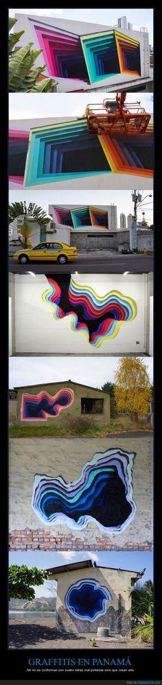 GRAFFITIS EN PANAMÁ - Allí no se conforman con cuatro letras mal pintadas sino que crean arte