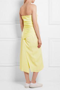 Joseph | Delta strapless knotted faille dress | NET-A-PORTER.COM