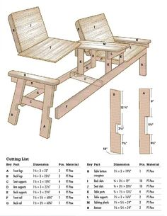 DIY Side By Side Patio Chairs