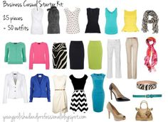 Young, Polished & Professional: Business Casual Starter Kit: Building a Mixable Professional Wardrobe (Spring/Summer Edition)