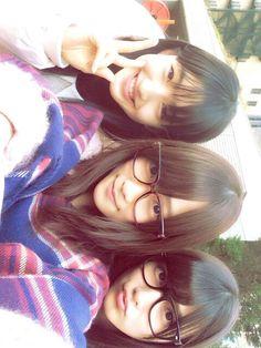 Tashima Meru, Kawaei Rina, Ana Iriama. Rambutnya bagus semua ya. Jadi pengen punya rambut kayak gitu.