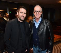 Trent Reznor and Michael Keaton http://www.zimbio.com/photos/Trent+Reznor/Michael+Keaton/cinema+prive+PANDORA+Jewelry+Host+Special/5Ph-_NlAlNG